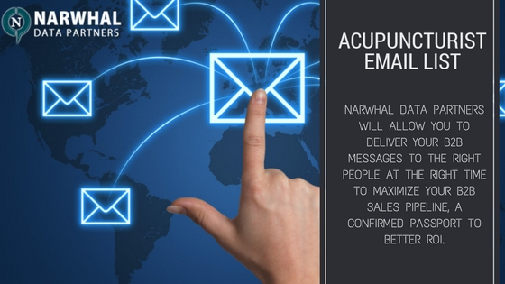 Boost your products and services using Acupuncturist Email List of Narwhal Data Partners. Reach decision makers to increase revenue and ROI