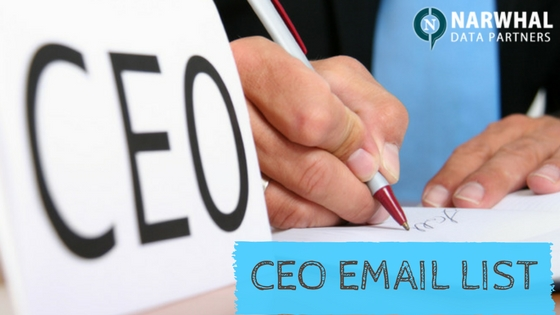 Narwhal Data Partners is pioneer in providing verified Chief Executive Officer Email List. Reach your target market and increase your revenue