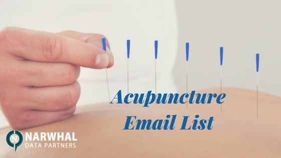 Buy verified, updated and qualified Acupuncture Email List from Narwhal Data Partners to get high response with qualified sales campaigns