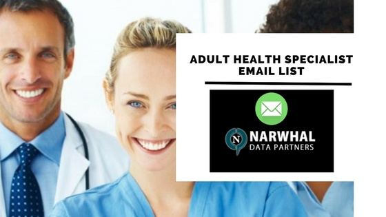 Adult Health Specialist Email List